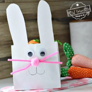 A Paper Bag Easter Bunny Gift Bag {An Easter Craft Idea} | Kid Friendly Things To Do