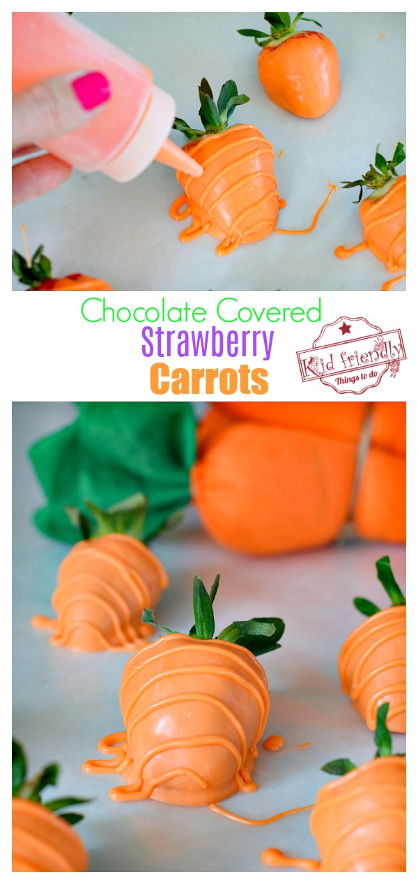 how to make carrot chocolate covered strawberries