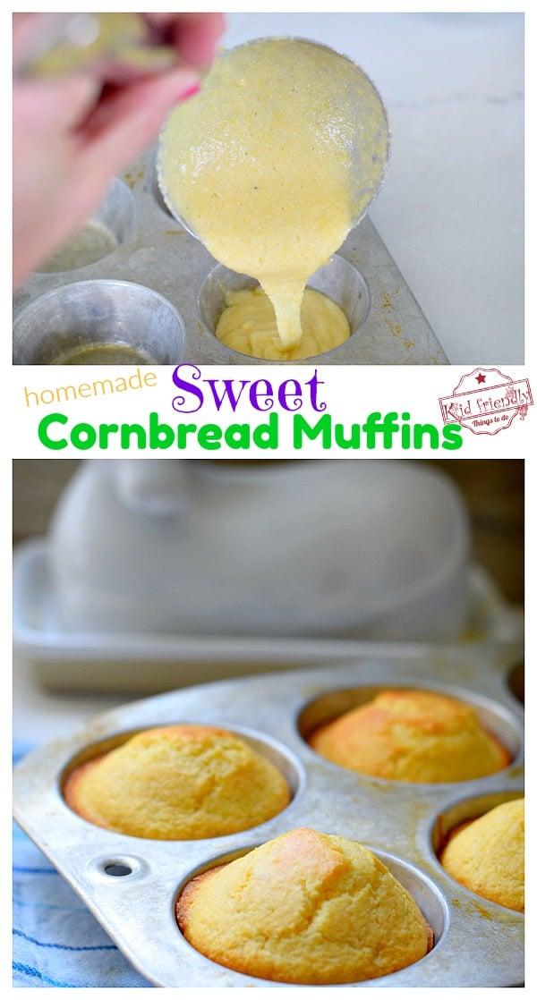 Homemade Sweet cornbread muffins