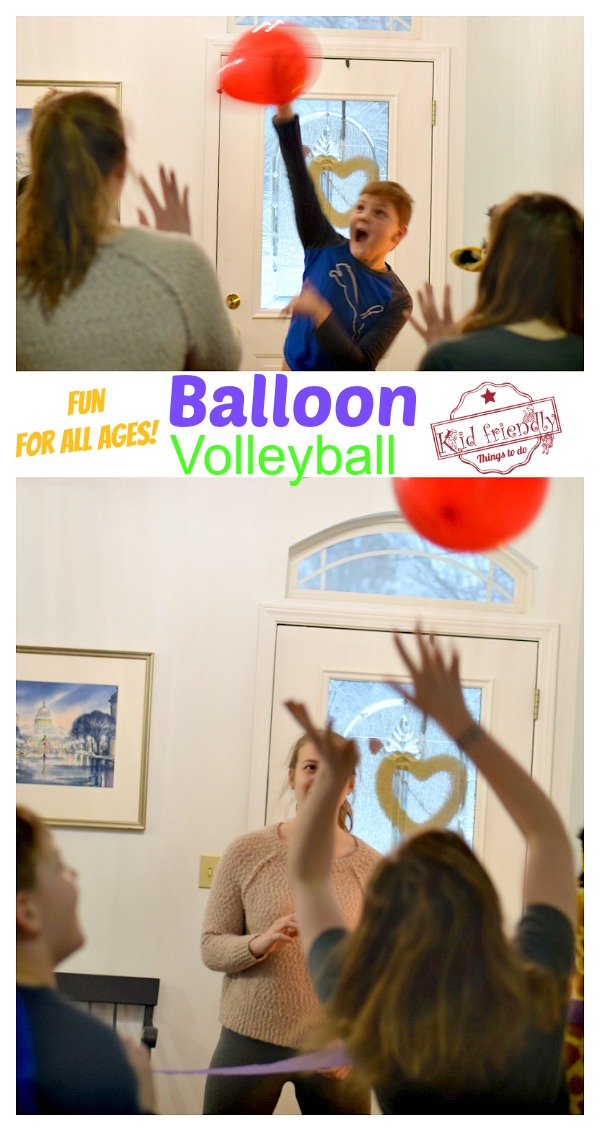 balloon volleyball indoor game