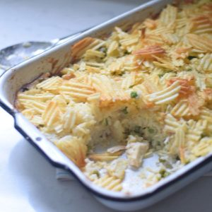 Chicken and Rice Casserole {with Potato Chip Topping} | Kid Friendly Things To Do