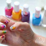 how to tie-dye fingernails easy