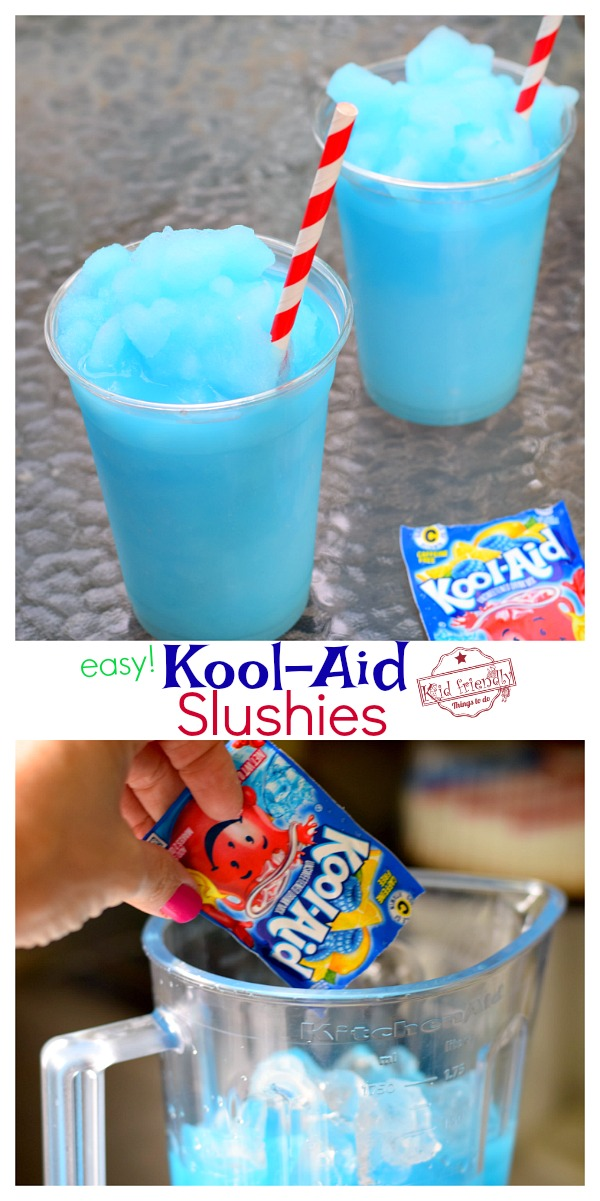 make kool-aid slushies with blender