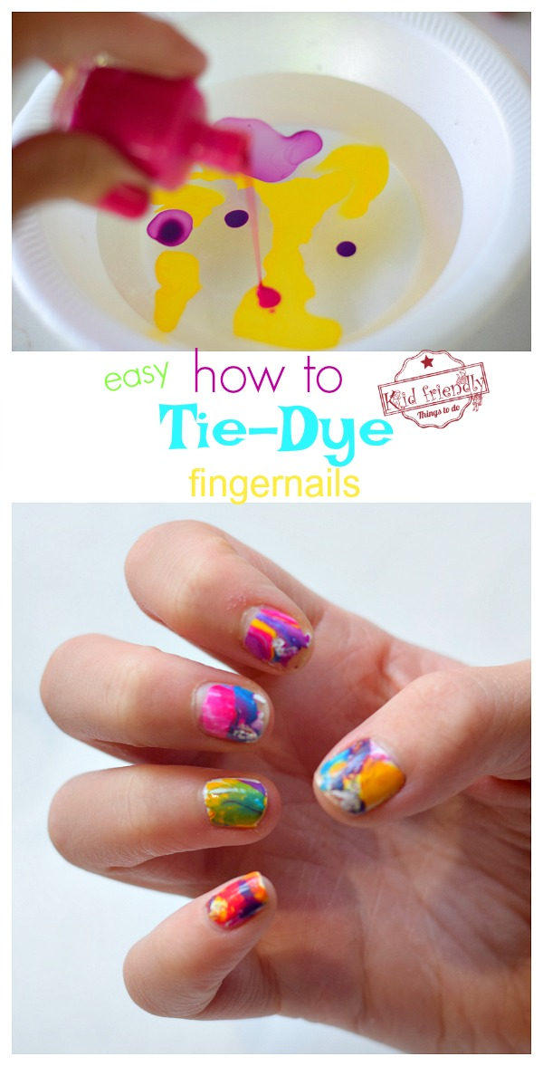 how to tie-dye fingernails with kids