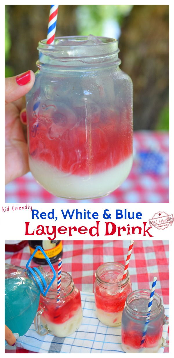 multi layered drink for kids