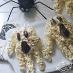 Ghost Halloween popcorn hands