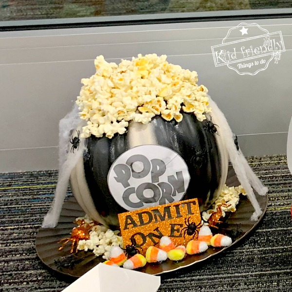 haunted popcorn pumpkin