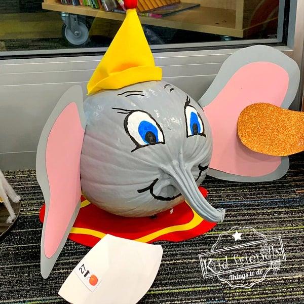 Dumbo painted pumpkin