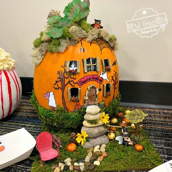 haunted fairy house pumpkin