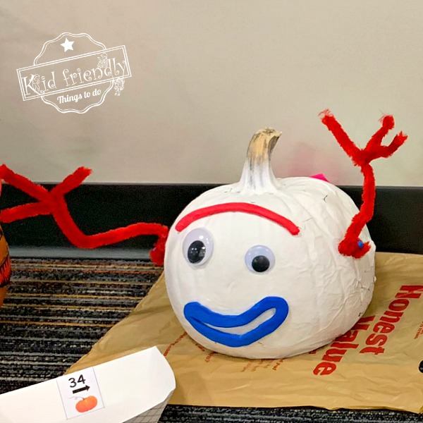 Forky painted pumpkin