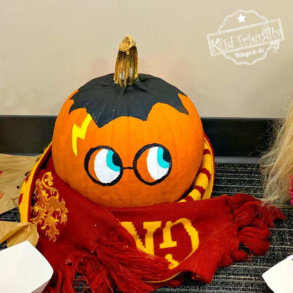 Harry Potter Painted Pumpkin