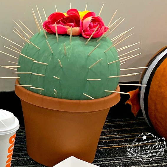 Cactus Painted Pumpkin