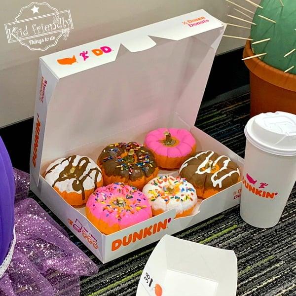 Dunkin' Donuts Painted Pumpkins