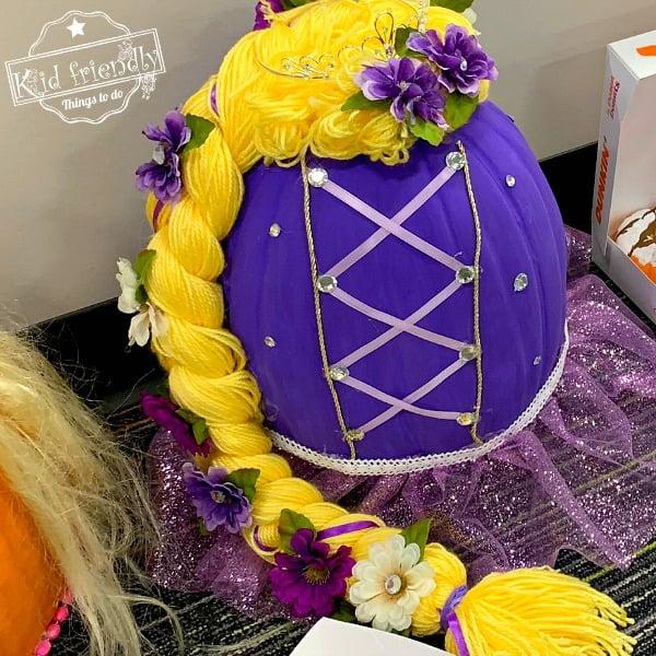 Rapunzel painted pumpkin