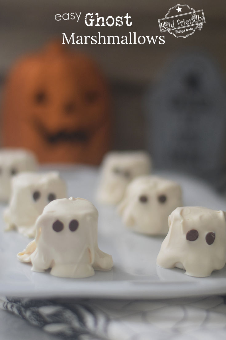 Easy Ghost Marshmallows