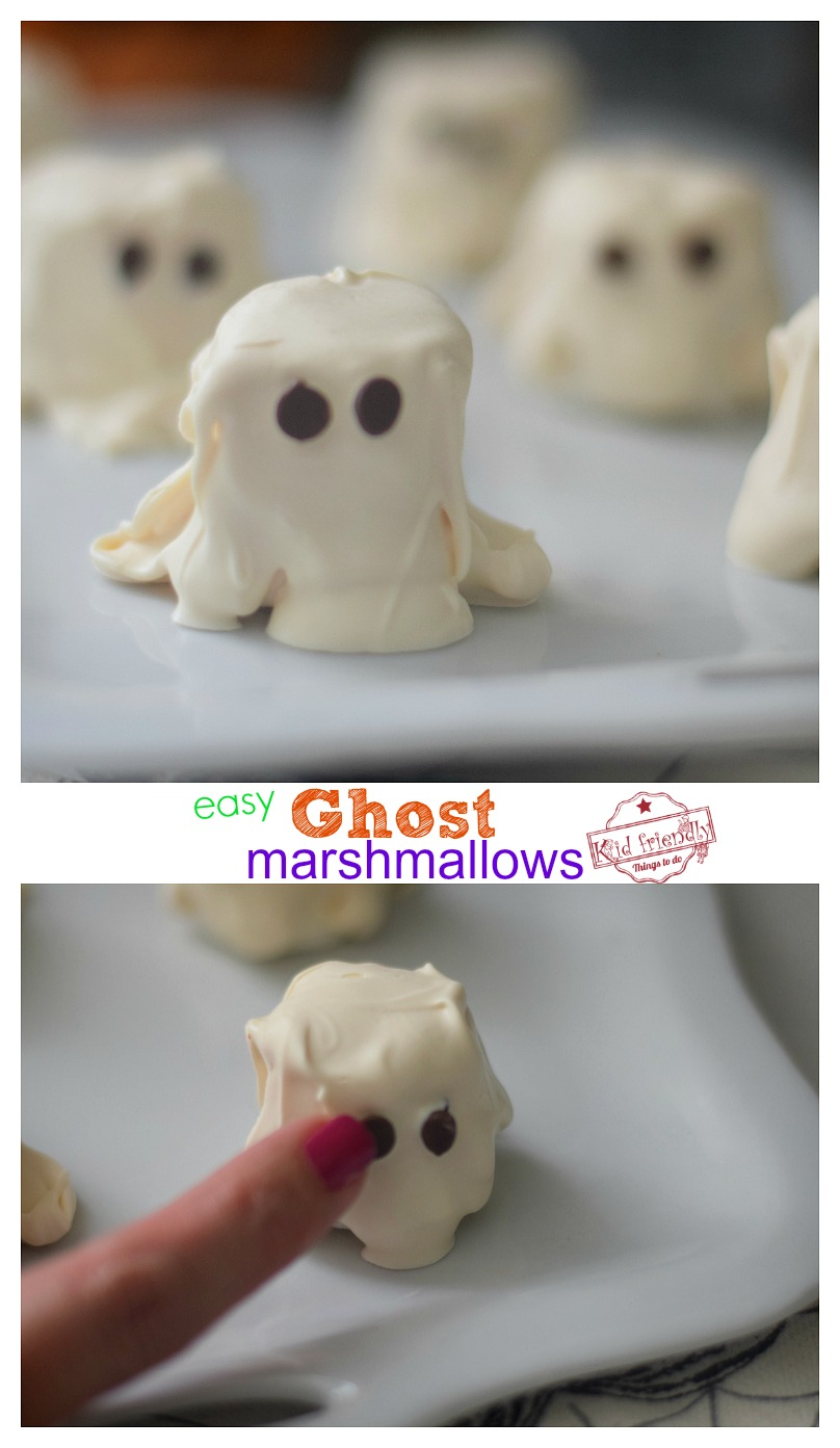 chocolate covered marshmallow ghosts