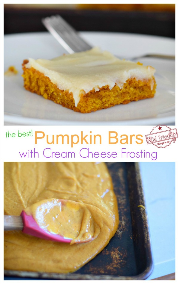 pumpkin bar sheet cake