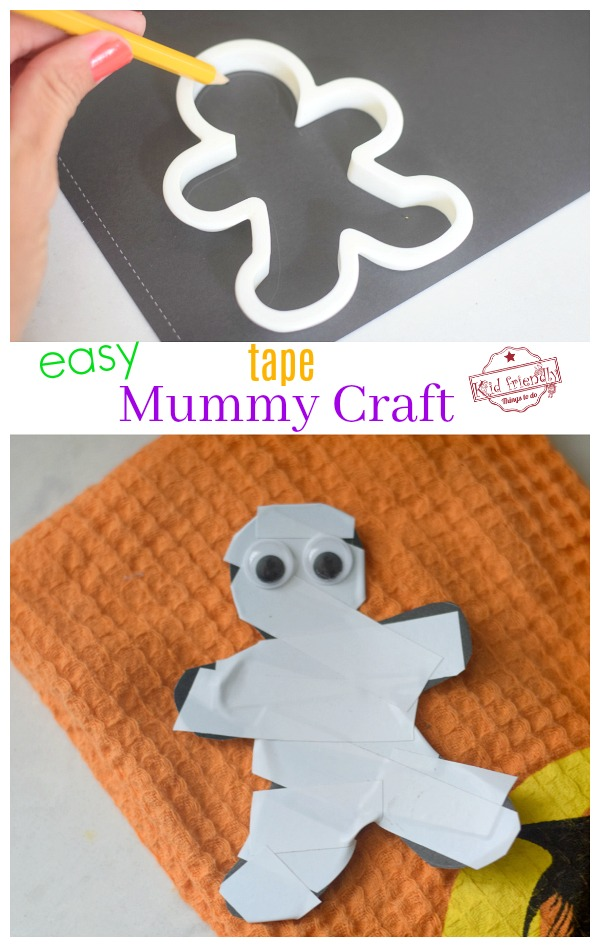 easy mummy craft for kids