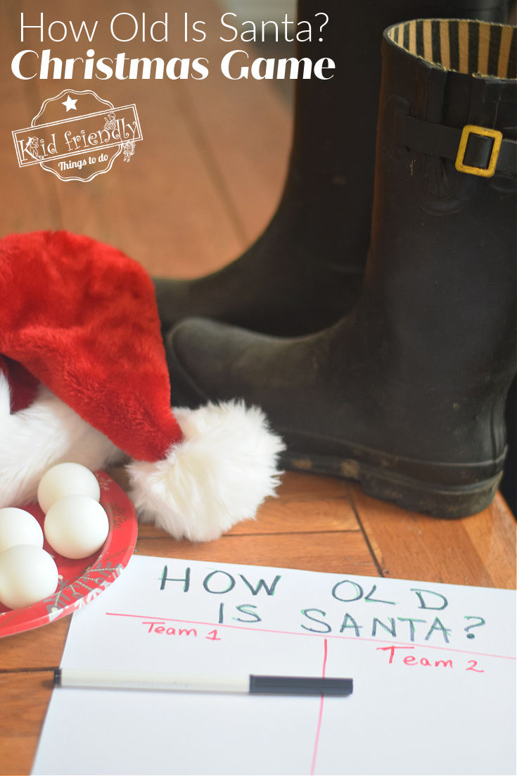 How old is Santa Christmas Game Idea