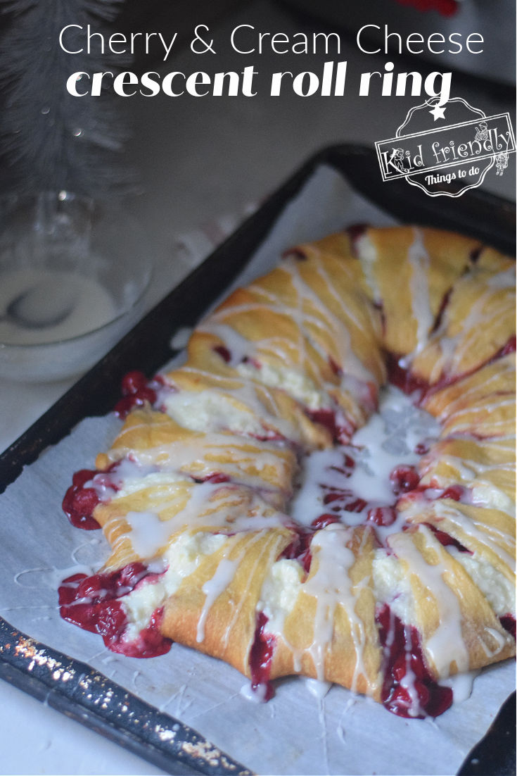 cherry and cream cheese crescent roll ring