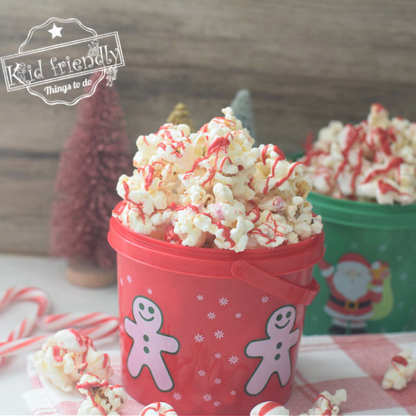 Peppermint Bark Popcorn Snack Mix | Kid Friendly Things To Do