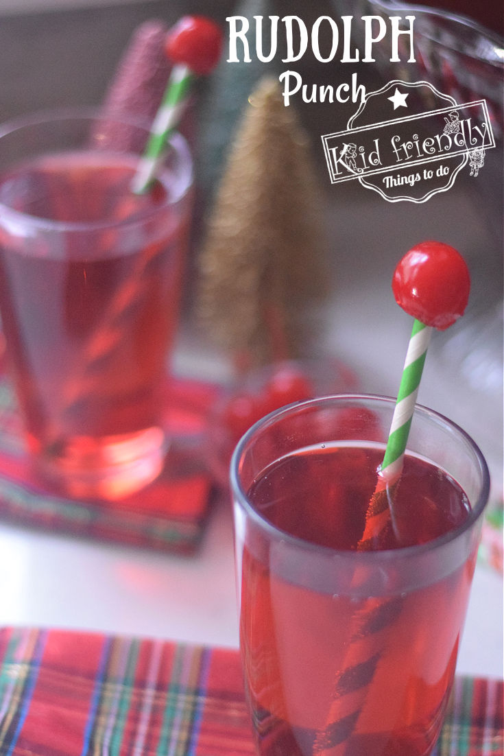 Rudolph Punch Christmas Drink for Kids