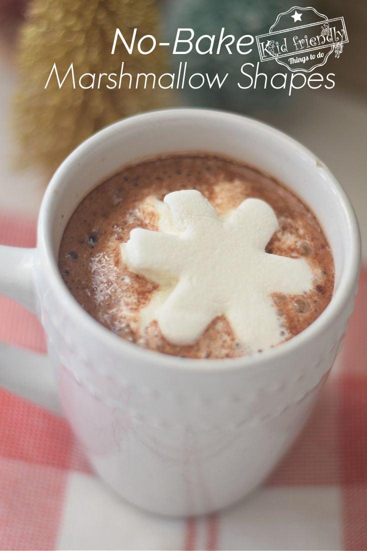 snowflake marshmallow shape no bake