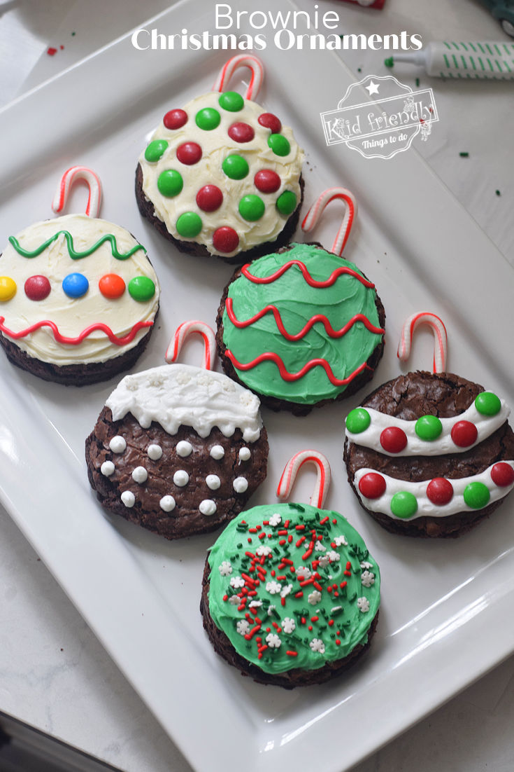 Christmas ornament brownies