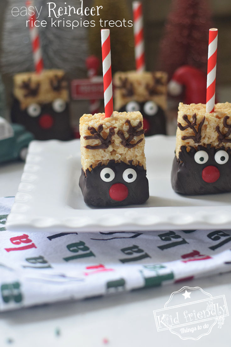 Reindeer Rice Krispies Christmas Treats