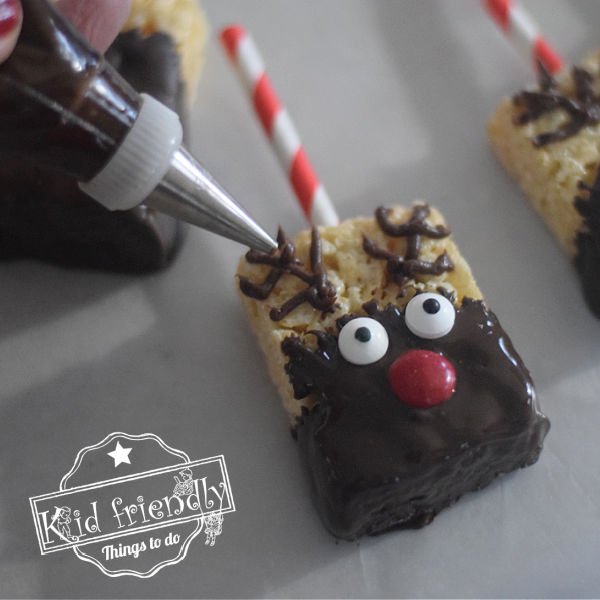 how to make reindeer rice Krispies treats