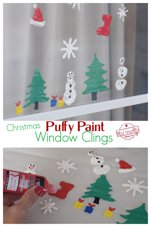 puffy paint window cling craft