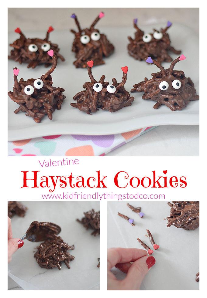 Valentine chocolate treat for kids - haystack cookies