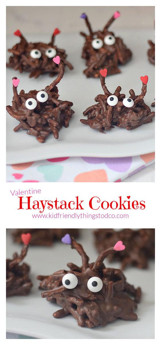 Valentine Treat for kids - haystack cookie