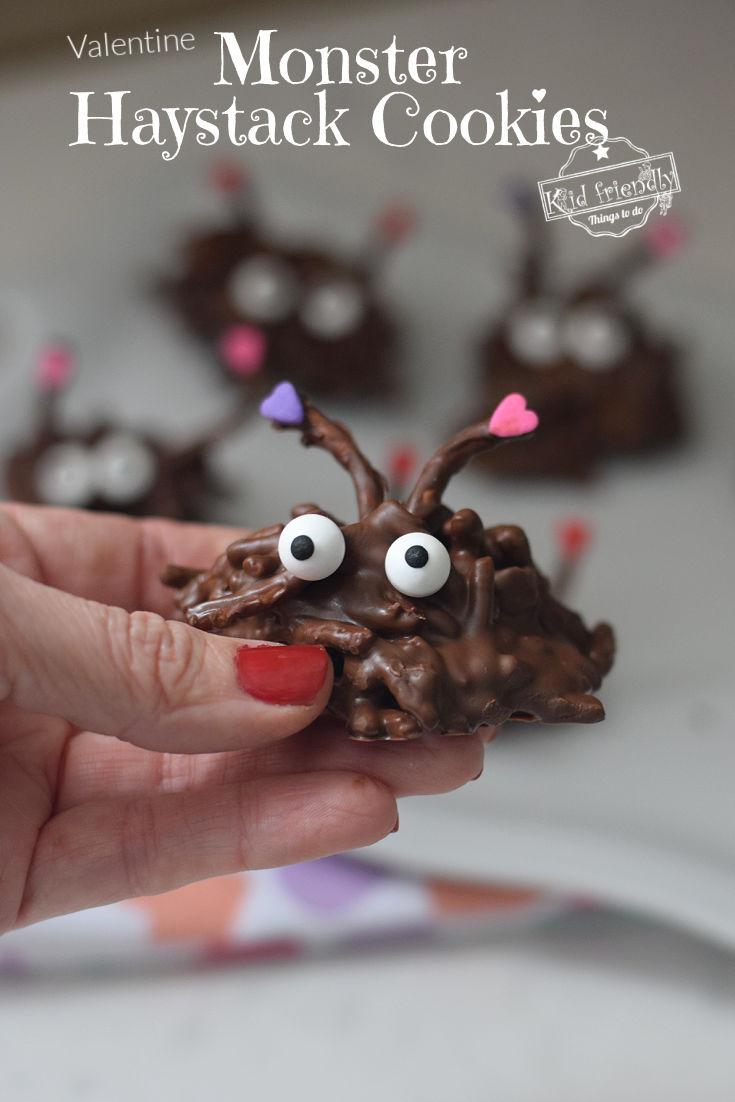 Valentine Haystack cookies treat