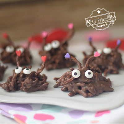 Nutella and Chocolate Haystack Cookies {for Valentine's Day}