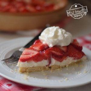 Slice of strawberry pizza
