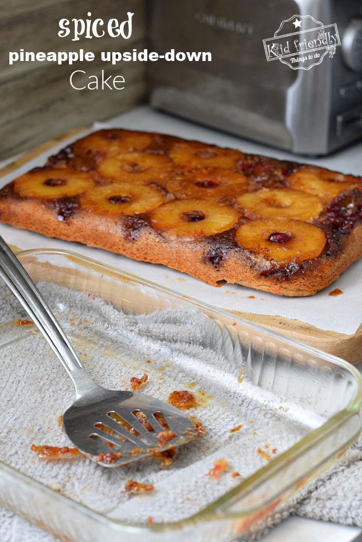 spiced pineapple upside-down cake recipe
