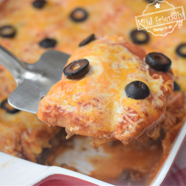 Beef Enchilada Casserole Recipe {with Red Sauce} | Kid Friendly Things To Do
