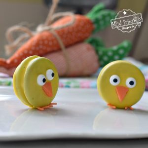 Chocolate Covered Oreo Easter Chicks Party Treat