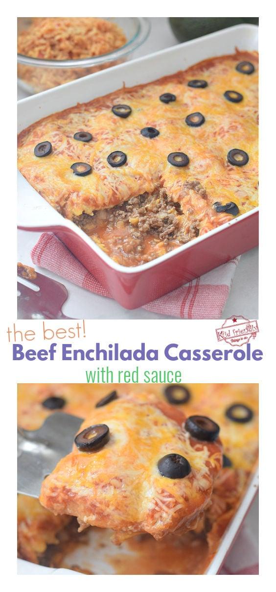 the best beef enchilada casserole