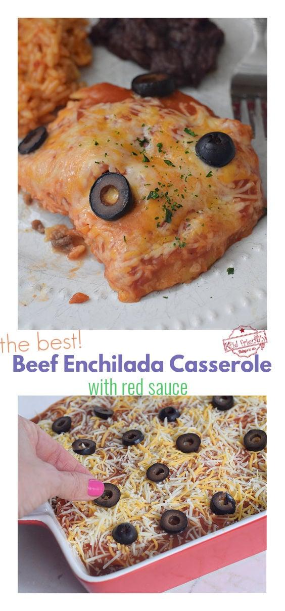 homemade beef enchilada casserole