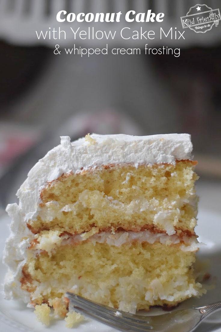 coconut cake using yellow cake mix