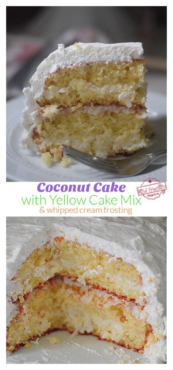 Coconut Cake using cake mix