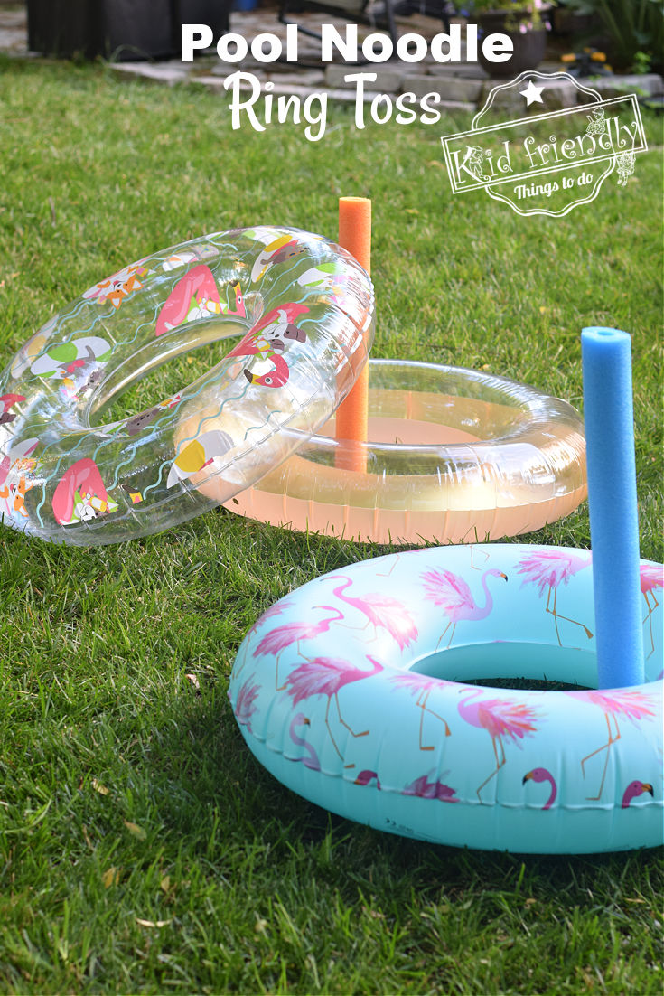 pool noodle ring toss game