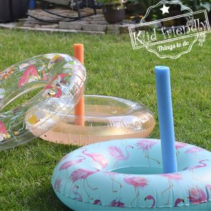 summer game for kids - pool noodle ring toss