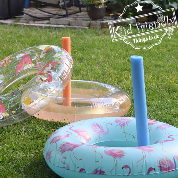 Pool Noodle Ring Toss {With Pool Tubes!} | Kid Friendly Things To Do