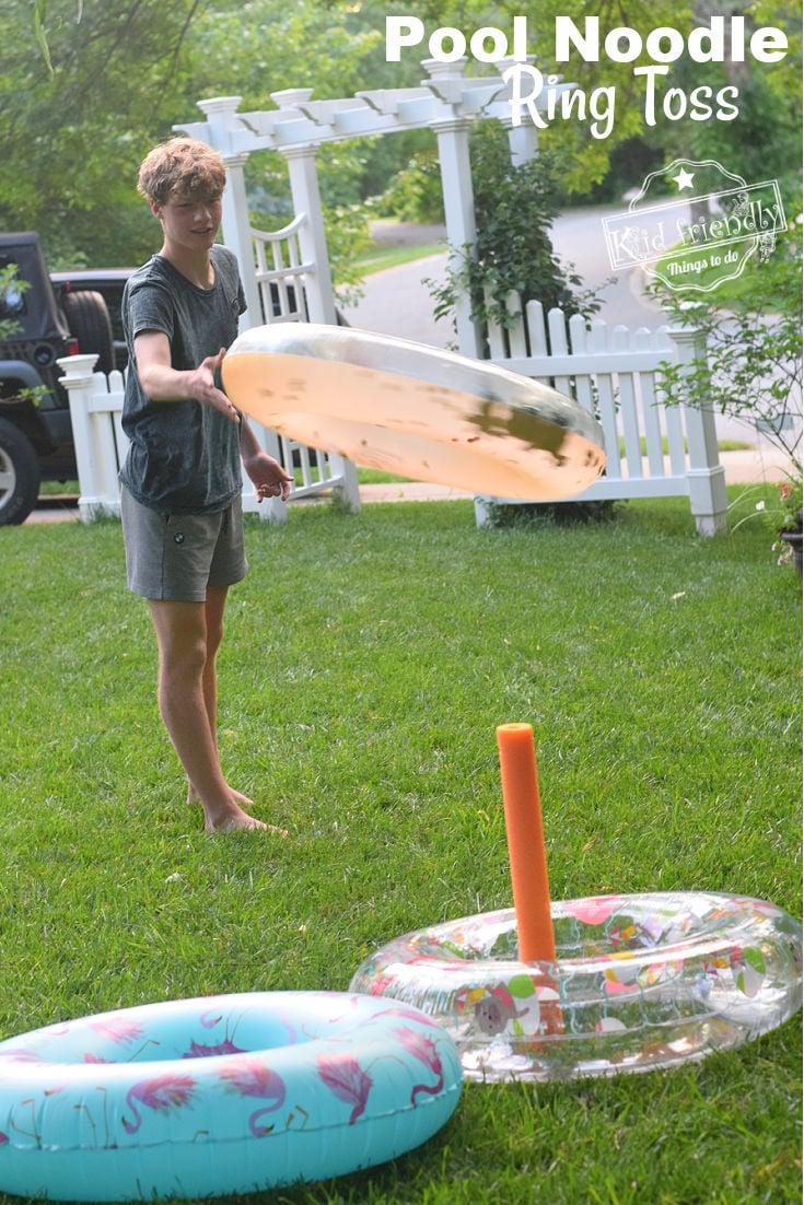 pool noodle summer game for kids