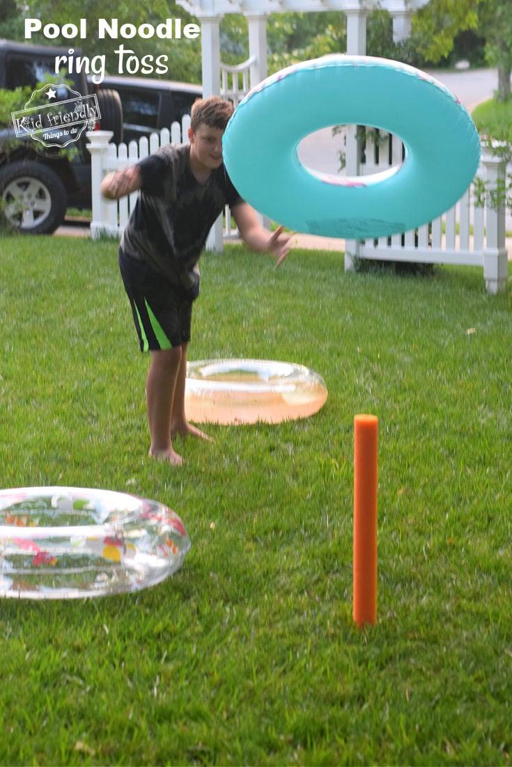 pool noodle summer yard game