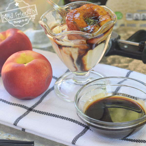 grilled peaches with balsamic sauce