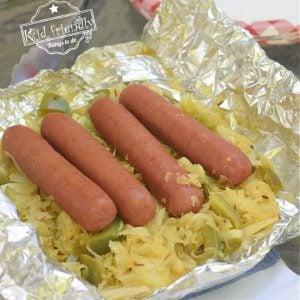 Brat and Sauerkraut Foil packet